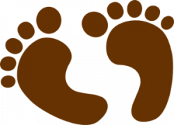 Feet clipart brown