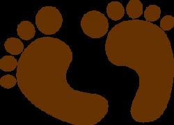 Feet clipart brown