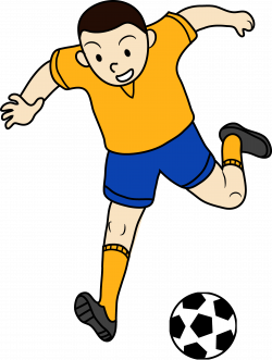 Little Boy clipart football player
