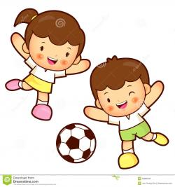 Little Boy clipart kid football