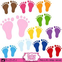 Feet clipart color design