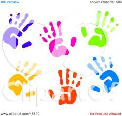 Handprint clipart background