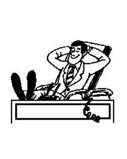 Feet clipart desk
