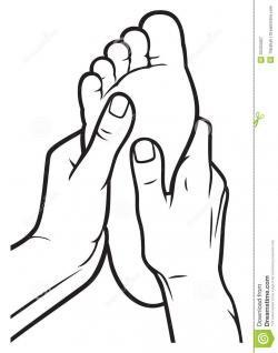 Feet clipart foot rub