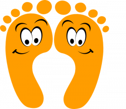 Feet clipart funny cartoon