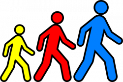 Feet clipart group walking