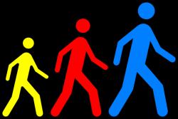 Feet clipart group walking