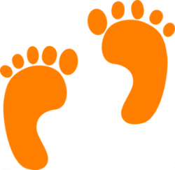 Feet clipart orange baby