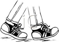 Feet clipart pair sneaker