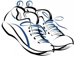 Drawn sneakers clip art