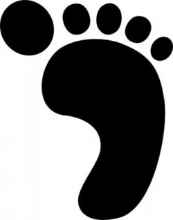 Feet clipart shoe print