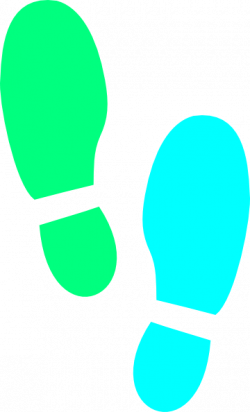 Colouful clipart shoe print