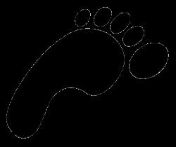 Barefoot clipart footprint