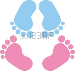 Footprint clipart pair feet