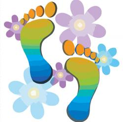 Footprint clipart foot care