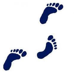 Feet clipart walking foot