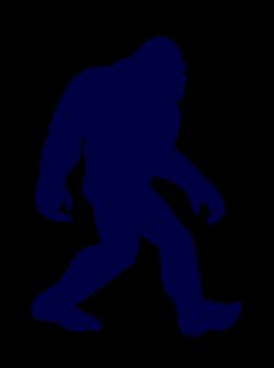 Bigfoot clipart silhouette