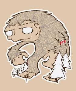 Bigfoot clipart head