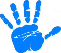 Handprint clipart paint