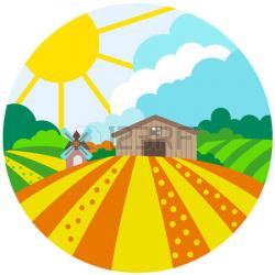 Feilds clipart agriculture field