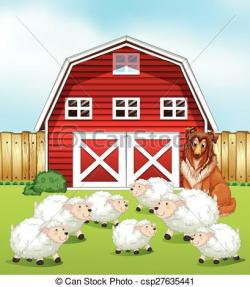 Sheep clipart shed