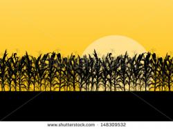 Cornfield clipart silhouette