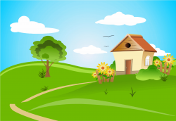 Field clipart rolling hills