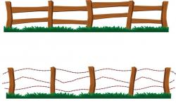 Feilds clipart wood fence
