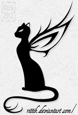 Sphynx Cat clipart winged