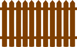 Gate clipart wooden gate