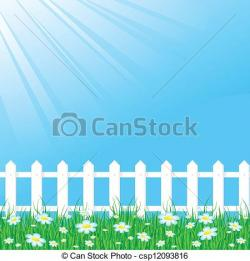 Fence clipart meadow background