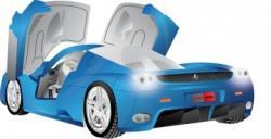 Ferrari clipart blue