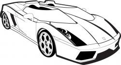 Lamborghini clipart black and white