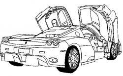 Ferrari clipart colouring page