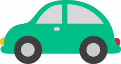 Mini clipart green car