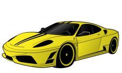 Ferrari clipart modern car