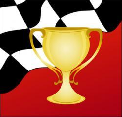 Race Car clipart winner cup