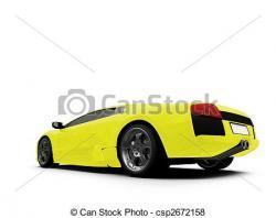 Ferrari clipart yellow