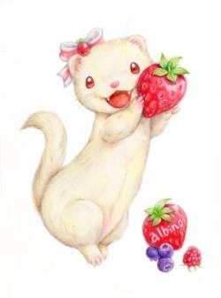 Drawn ferret kawaii