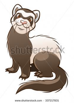 Ferret clipart adorable