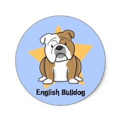 English Bulldog clipart cute