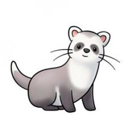 Honey Badger clipart chibi