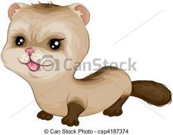 Drawn ferret clipart