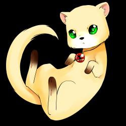 Drawn ferret chibi