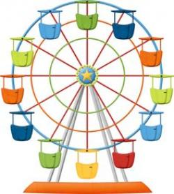 Mini clipart ferris wheel