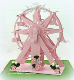 Drawn ferris wheel made recycled material