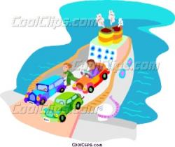 Ferry clipart cartoon