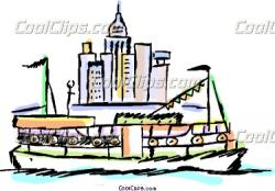 Ferry clipart small boat