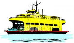 Ferry clipart water transportation