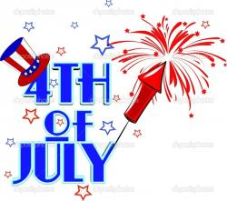 Fireworks clipart fourth july